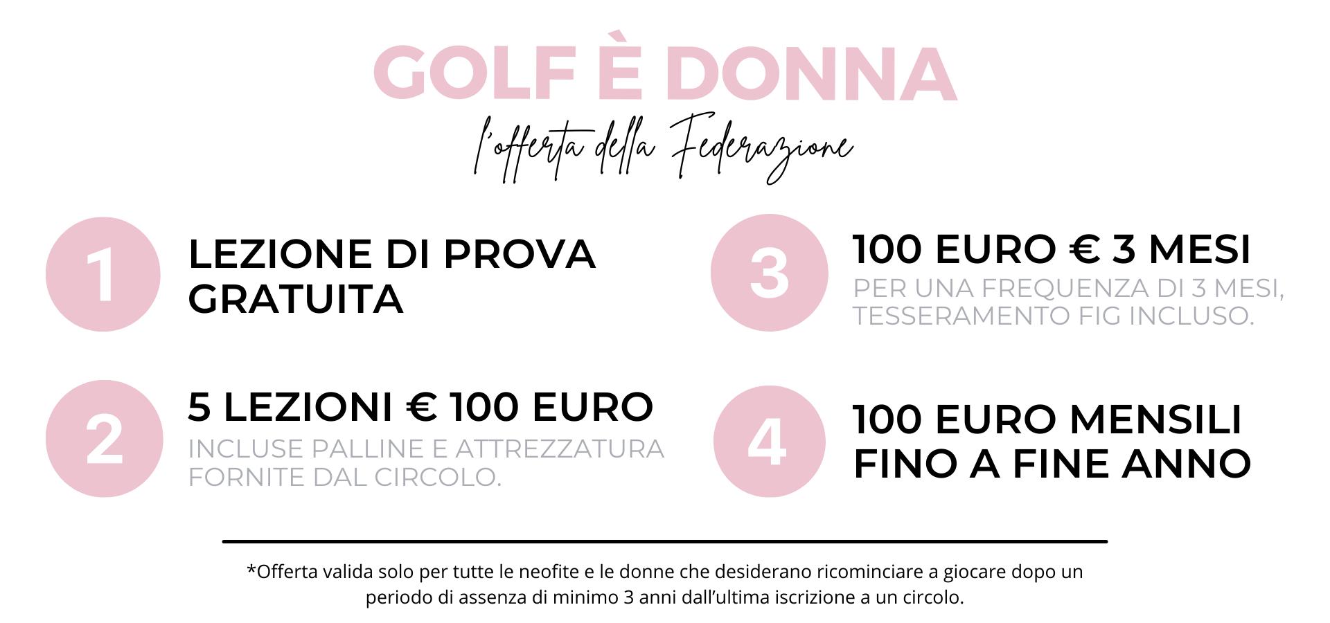 golf è donna offerta federazione